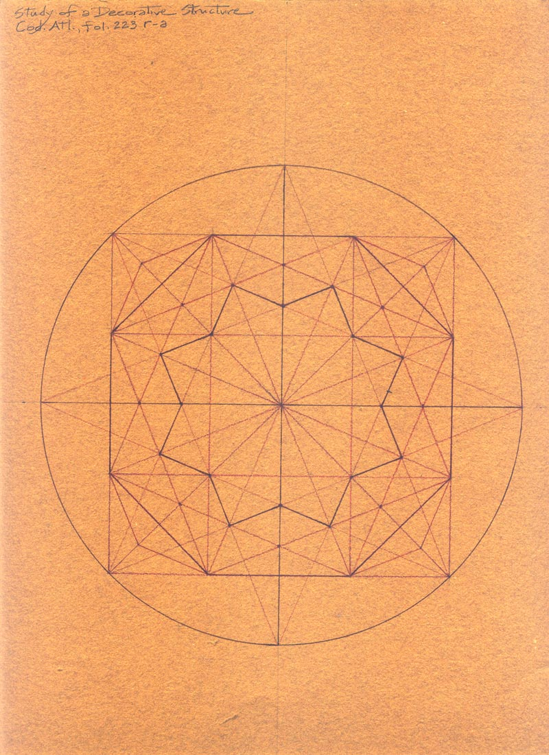Mark A Reynolds The Octagon in Leonardos Drawings – Octagon Graph Paper